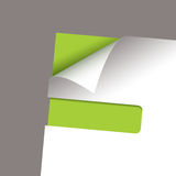 Paper corner slot green peel Stock Photos