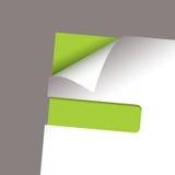 Paper corner slot green peel Stock Photos
