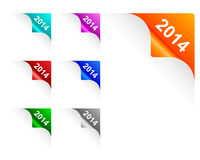 Paper corners 2014. Detailed and accurate illustration of paper corners 2014 Stock Illustration
