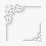 Paper corners. Set of paper corner ornaments on white background Stock Images