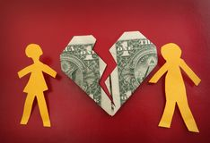 Paper couple heart Royalty Free Stock Photo
