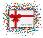 Paper Coupon Ribbon Confetti Gutschein Royalty Free Stock Photography