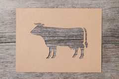 Paper cow Royalty Free Stock Images