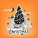 Paper Craft Christmas Vector Stock Image