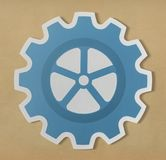 Paper craft of cog wheel icon symbol Royalty Free Stock Photos