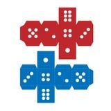 Paper craft dice template Stock Photos