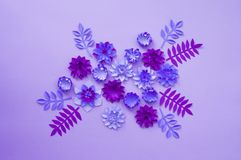 Paper craft Flower Decoration Concept. stock photography