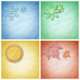 Paper craft , Four seasons elements Stock Image