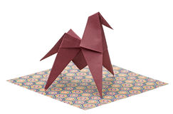 Paper craft horse Royalty Free Stock Image