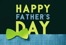 Retro bright green bow tie fathers day graphic royalty free stock photography