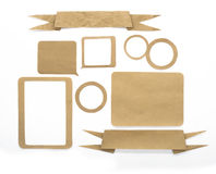 Paper craft sticks Royalty Free Stock Photography