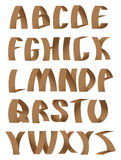 Paper crafting alphabets fonts Stock Photography