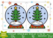 Paper Crafts for children, Snowball and Christmas tree. Education Christmas Paper Crafts for children, Snowball and Christmas tree. Use scissors and glue to Stock Image