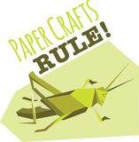 Paper Crafts Rule Royalty Free Stock Image