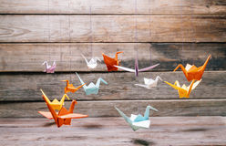 Paper cranes Royalty Free Stock Photos