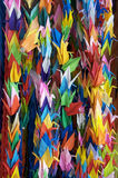 Paper cranes in Hiroshima. A display of paper cranes in Hiroshima Japan Royalty Free Stock Images