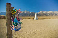 Paper Cranes at Manzanar Stock Image
