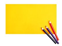 Paper and crayons Stock Image