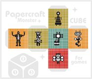 Paper cube for children games and decoration. Stock Image