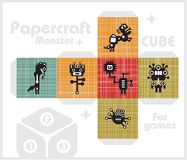 Paper cube for children games and decoration. Royalty Free Stock Photography