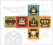 Paper cube for children games and decoration. Royalty Free Stock Image