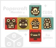 Paper cube for children games and decoration. Royalty Free Stock Photo