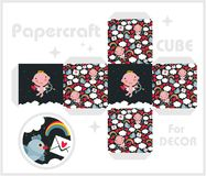 Paper cube for children games and decoration. Stock Photography