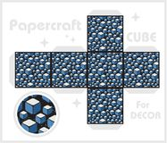 Paper cube for children games and decoration. Stock Photos