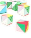 Paper cubes Stock Photography
