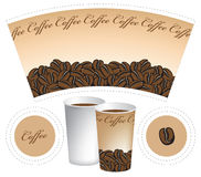 Paper cup. For a coffee Stock Photo