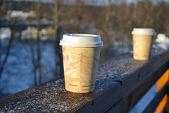 Paper cup of coffee Royalty Free Stock Image