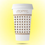 Paper cup of coffee. Paper coffee Cup,glass for coffee.Vector illustration food object Royalty Free Stock Image