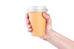 Paper cup of coffee Stock Photography