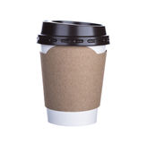Paper cup of coffee Isolated white Royalty Free Stock Photos