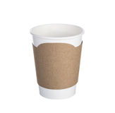Paper cup of coffee Isolated white Stock Image