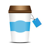A paper cup of coffee Royalty Free Stock Photography