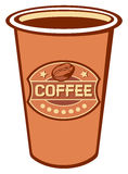 Paper cup of coffee Stock Photos
