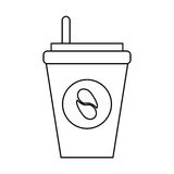 paper cup coffee to go outline Stock Photography