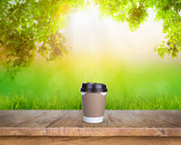 Paper cup of coffee Royalty Free Stock Photo