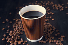 Paper cup of hot coffee Royalty Free Stock Photos