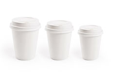 Paper cup. Isolated on white. Coffee to go Stock Photos