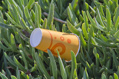 Paper cup in nature. Throwing paper cup in nature trash in environment stock photo