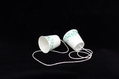 Paper Cup Phone stock photos