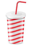 Paper cup with soda vector illustration Royalty Free Stock Photography