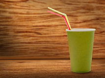 Paper cup with straws Royalty Free Stock Photo