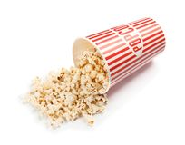Paper cup with of tasty popcorn Royalty Free Stock Image
