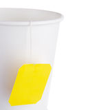 Paper cup of tea. Against white background Stock Photography