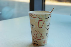 Paper cup for tea or coffee Royalty Free Stock Image