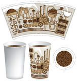 Paper cup for tea or coffee Royalty Free Stock Images