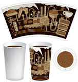 Paper cup for tea or coffee Stock Photos